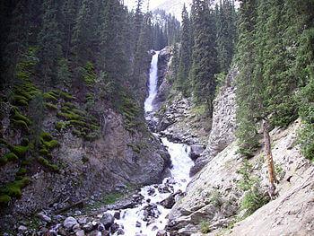 350px-Kyrgyzstan_Barskaun_Waterfall_001